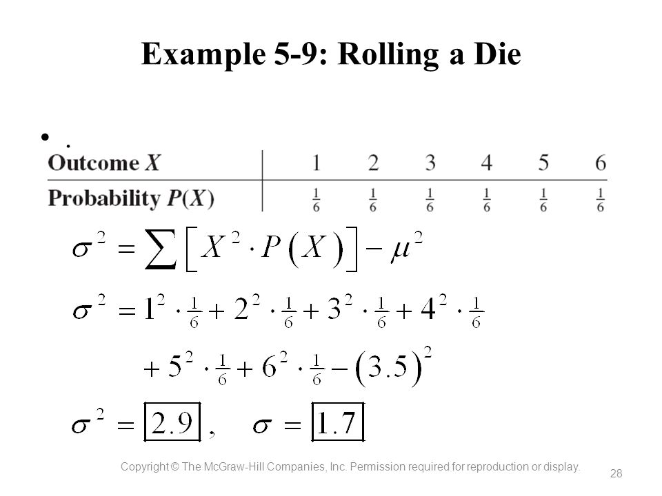 Example 5-9: Rolling a Die