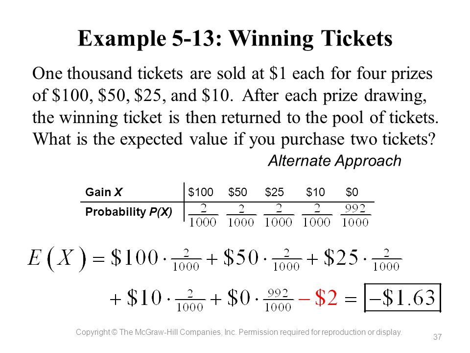 Example 5-13: Winning Tickets