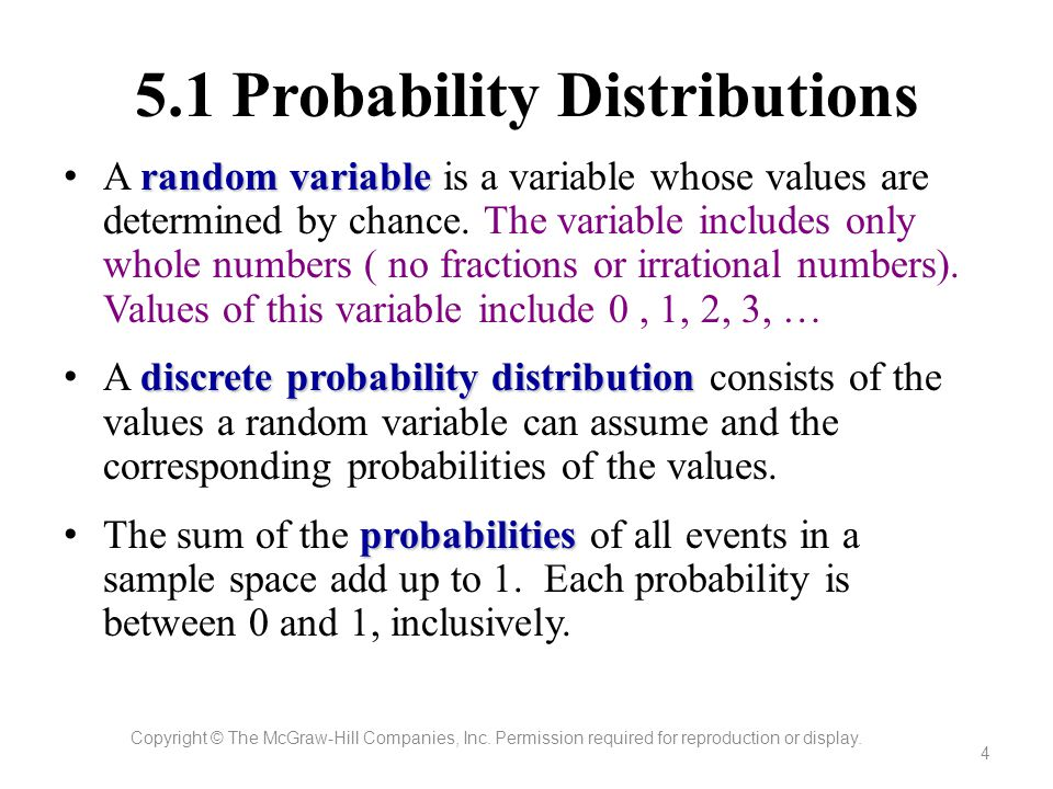 5.1 Probability Distributions
