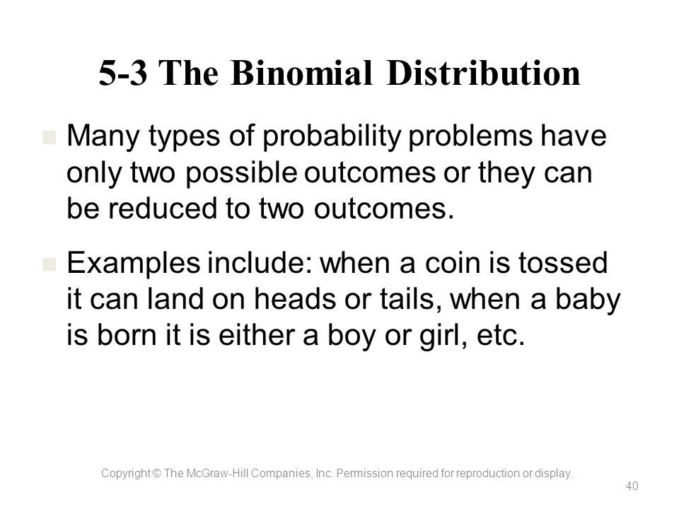 5-3 The Binomial Distribution