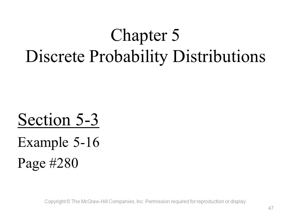 Chapter 5 Discrete Probability Distributions