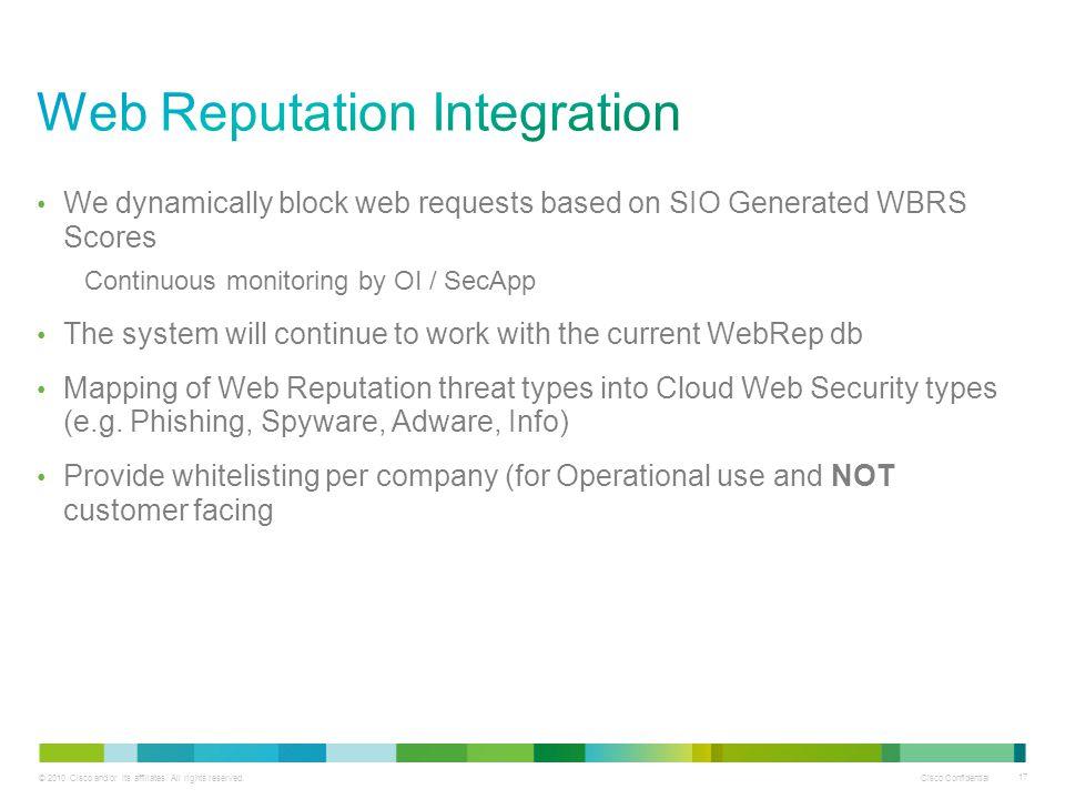 Web Reputation Integration