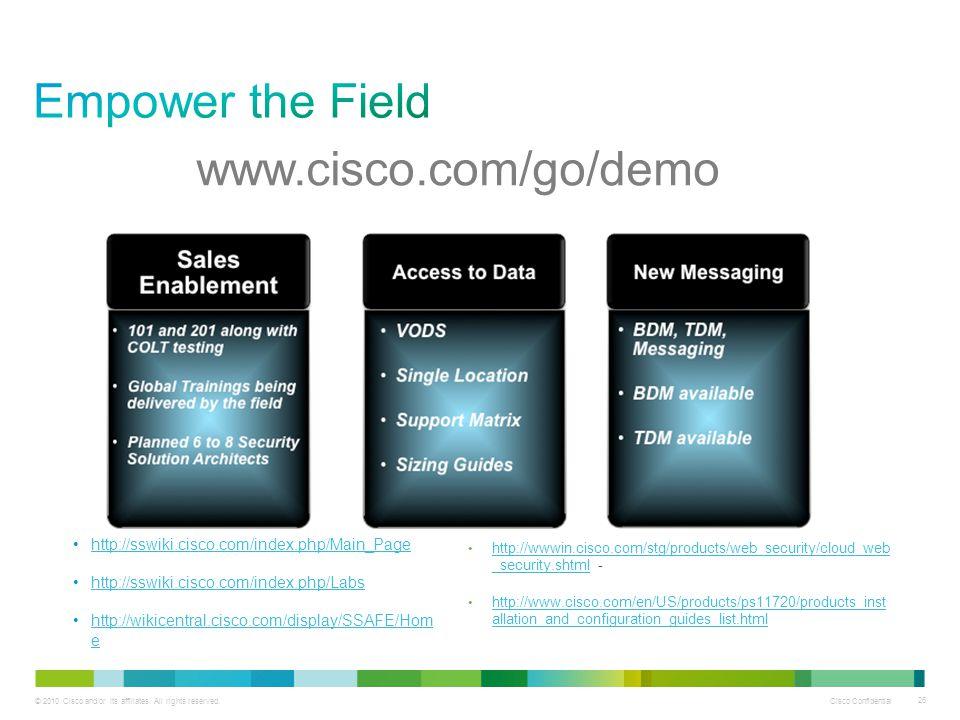 Empower the Field www.cisco.com/go/demo