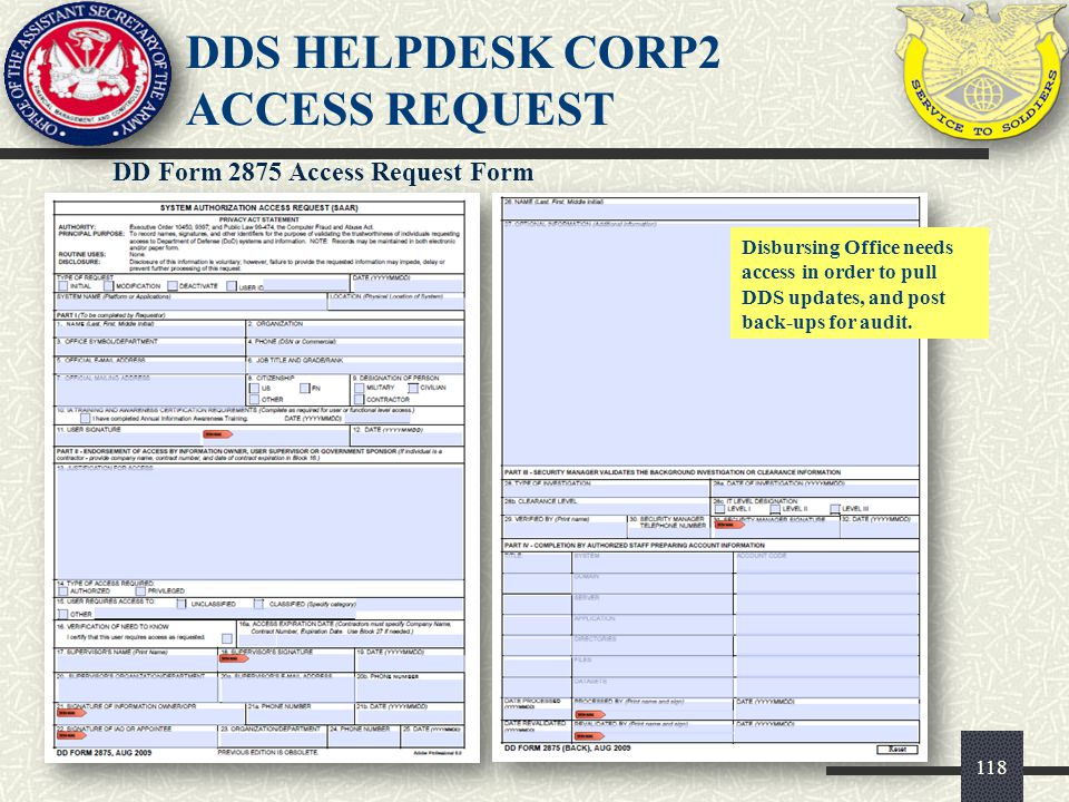 DDS HELPDESK CORP2 ACCESS REQUEST