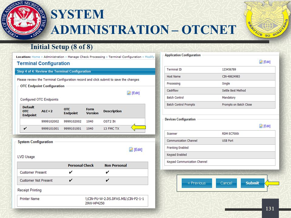 SYSTEM ADMINISTRATION – OTCnet