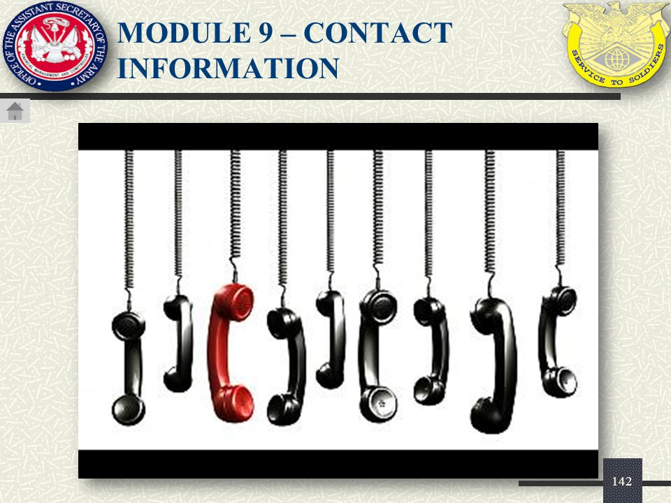 MODULE 9 – CONTACT INFORMATION