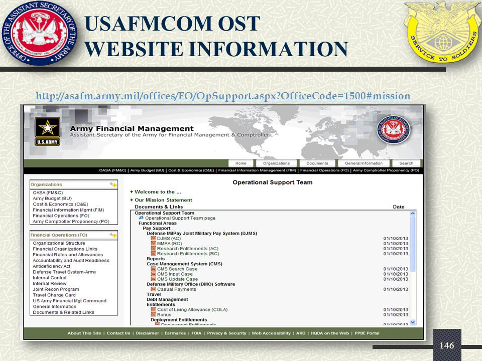 USAFMCOM OST WEBSITE INFORMATION