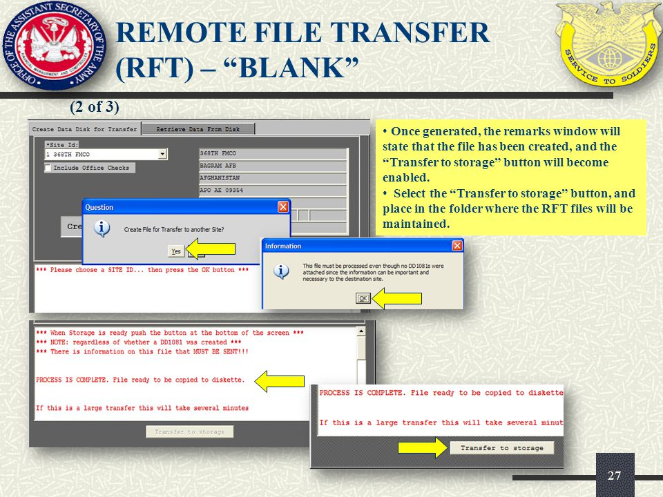 REMOTE FILE TRANSFER (RFT) – BLANK