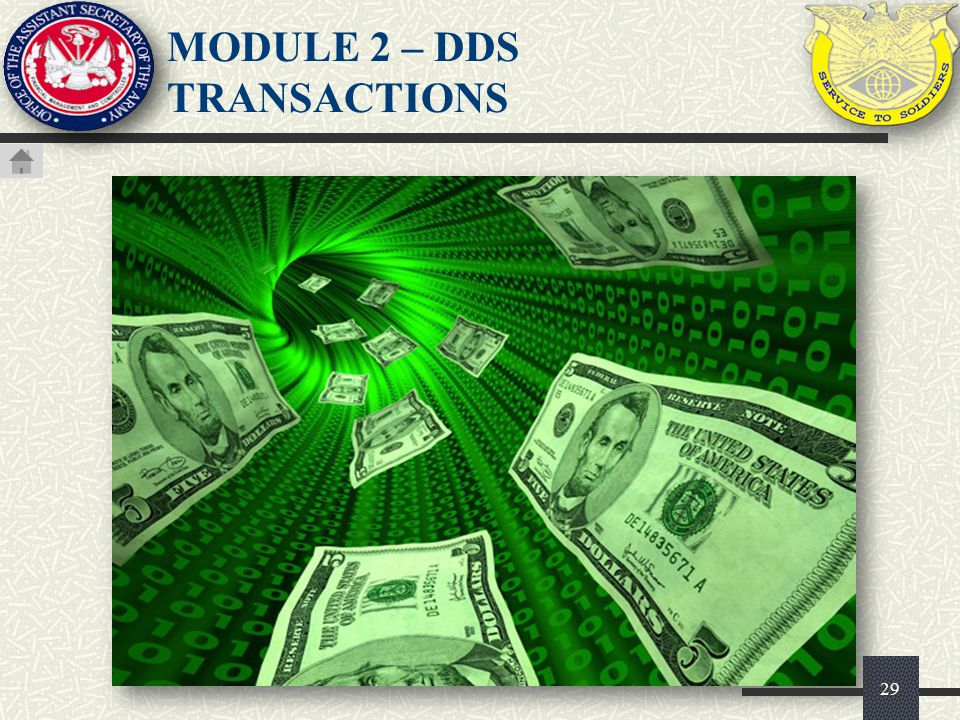MODULE 2 – DDS TRANSACTIONS