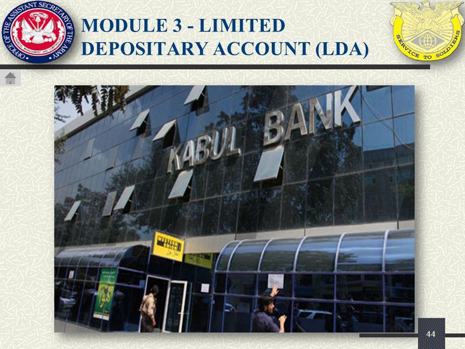 MODULE 3 - LIMITED DEPOSITARY ACCOUNT (LDA)