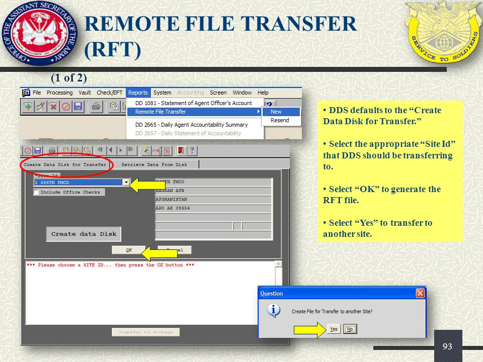 REMOTE FILE TRANSFER (RFT)