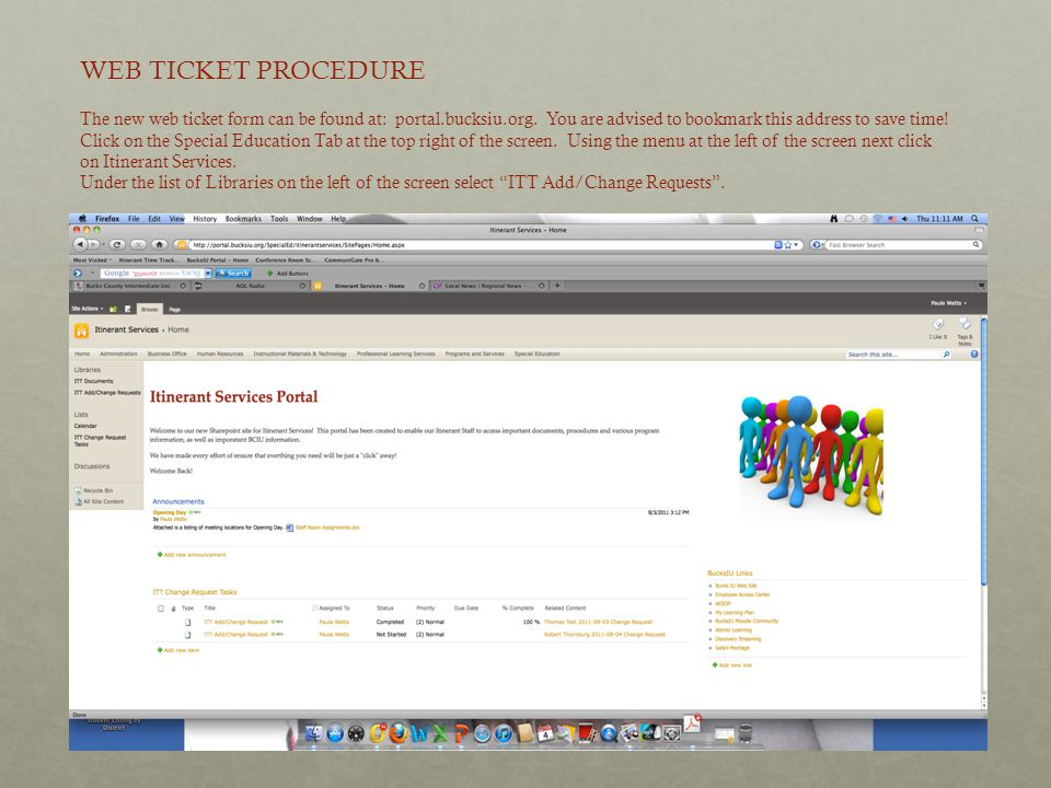 WEB TICKET PROCEDURE The new web ticket form can be found at: portal.bucksiu.org. You are advised to bookmark this address to save time!