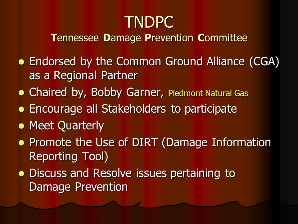 TNDPC Tennessee Damage Prevention Committee