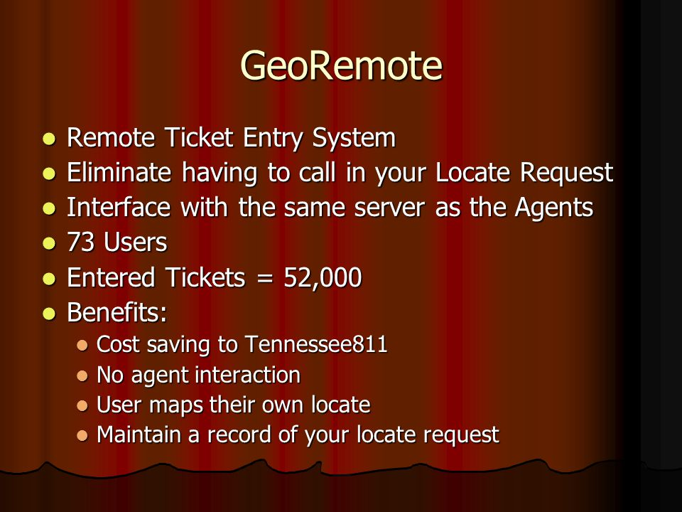 GeoRemote Remote Ticket Entry System