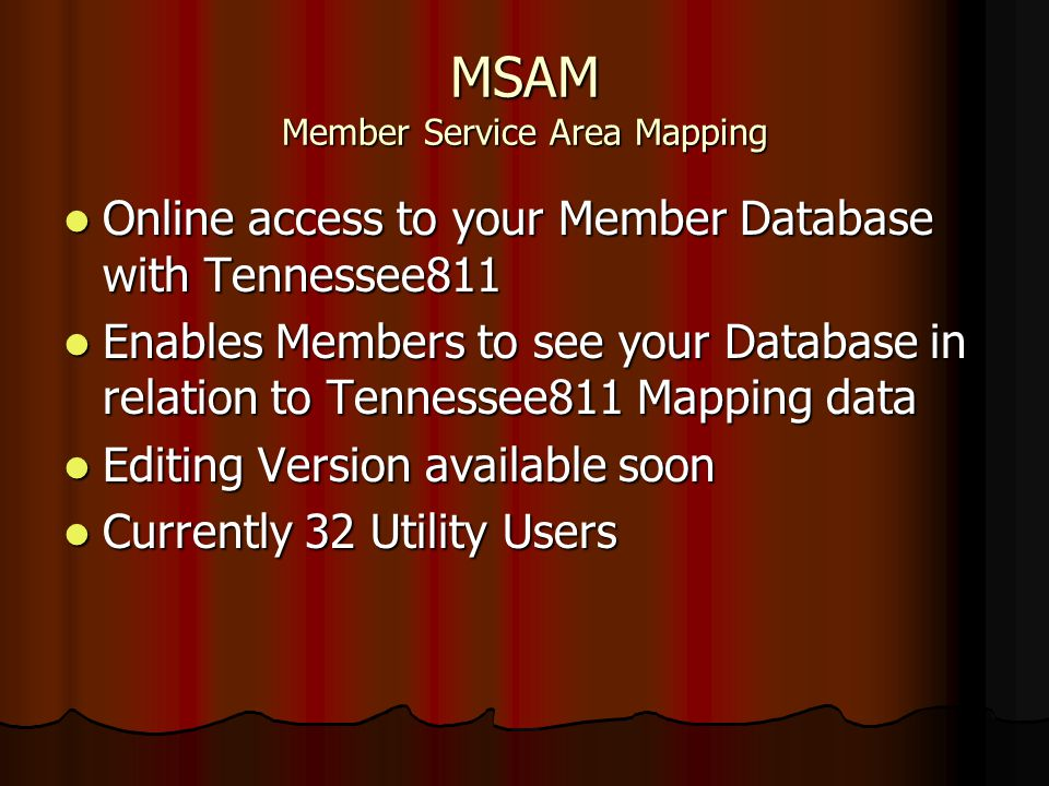 MSAM Member Service Area Mapping