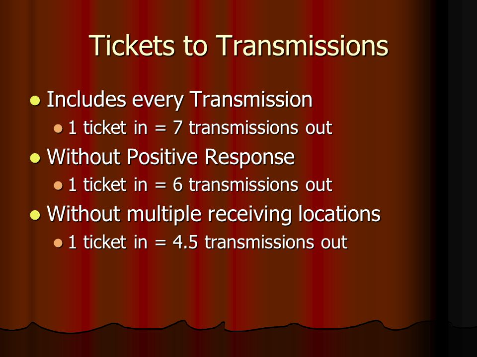 Tickets to Transmissions