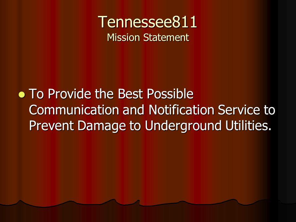 Tennessee811 Mission Statement