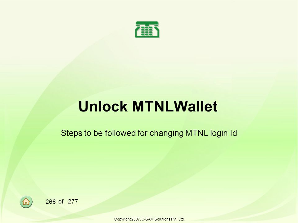 Steps to be followed for changing MTNL login Id