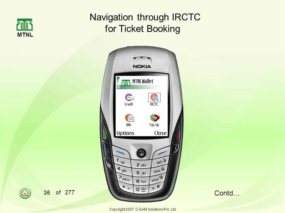Navigation through IRCTC for Ticket Booking