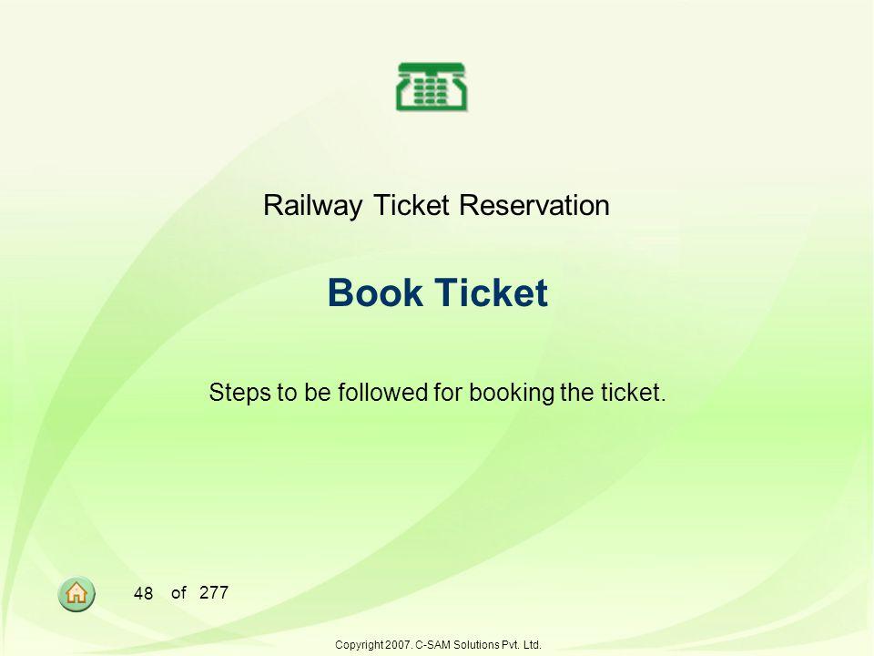 Railway Ticket Reservation Book Ticket