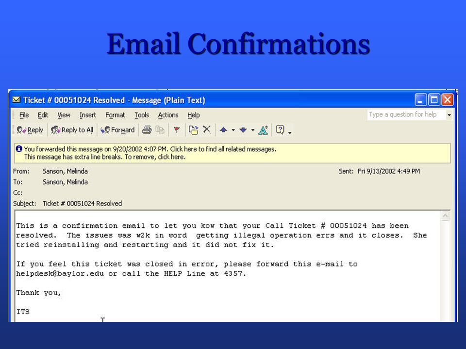 Email Confirmations