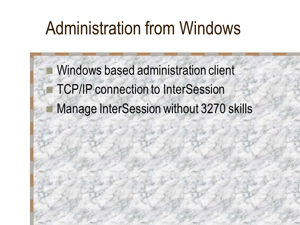 Administration from Windows