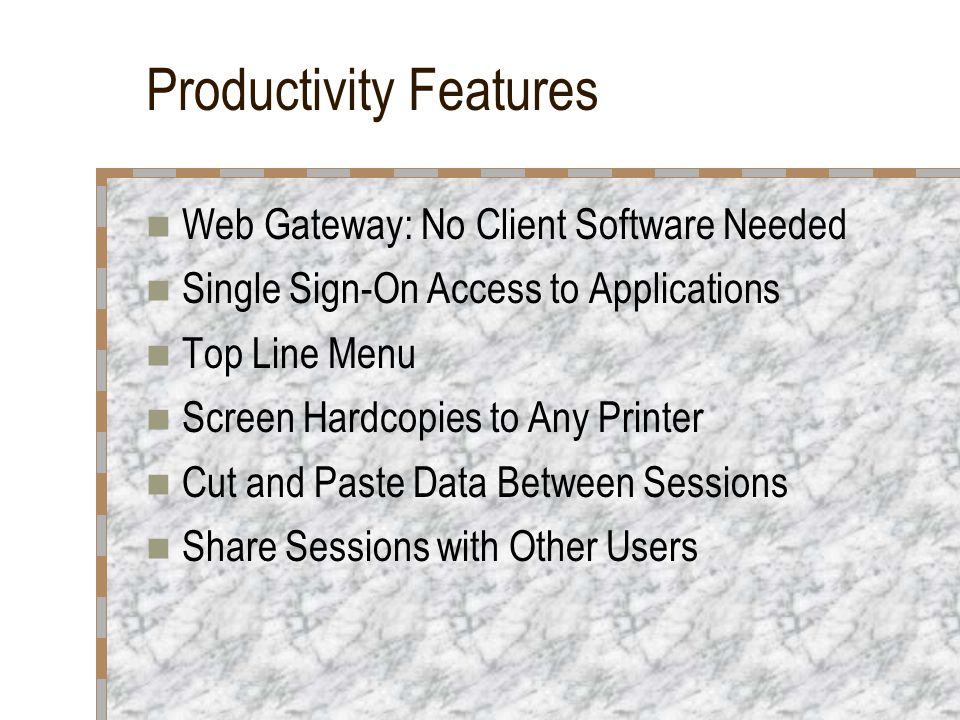 Productivity Features