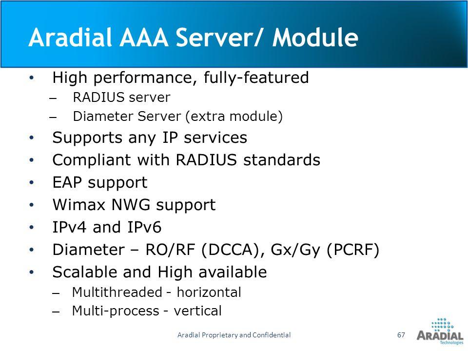 Aradial AAA Server/ Module
