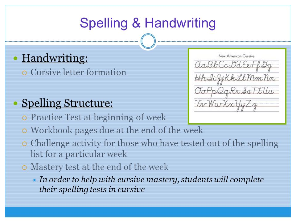 Spelling & Handwriting