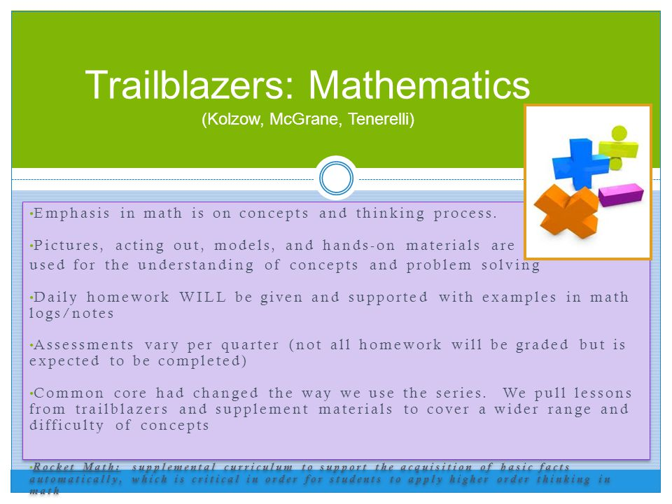Trailblazers: Mathematics (Kolzow, McGrane, Tenerelli)
