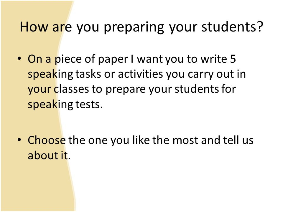 How are you preparing your students