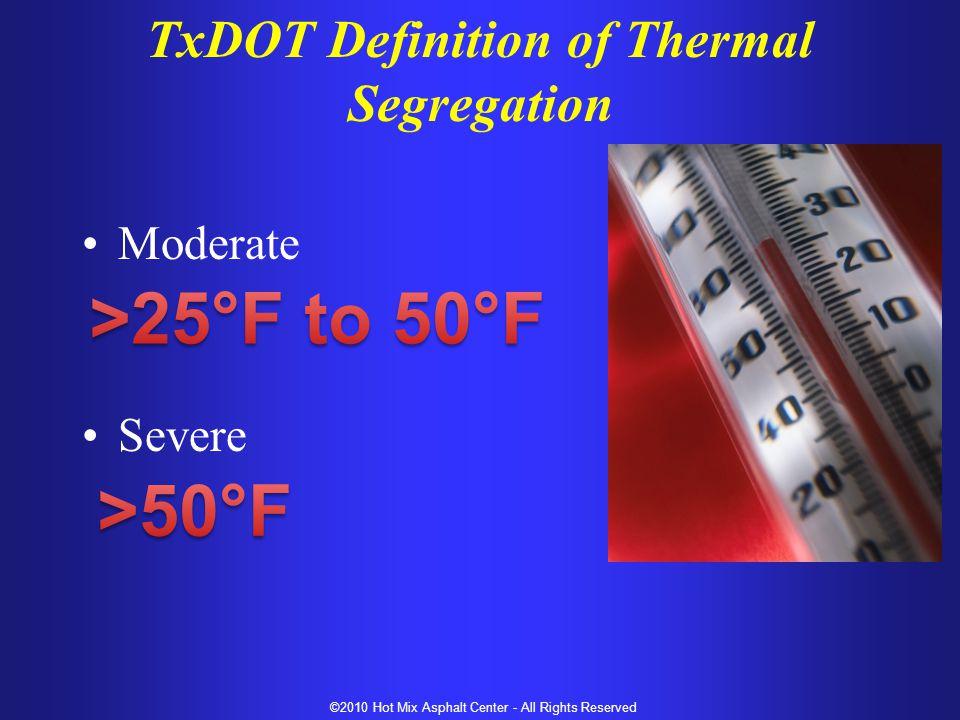 TxDOT Definition of Thermal Segregation