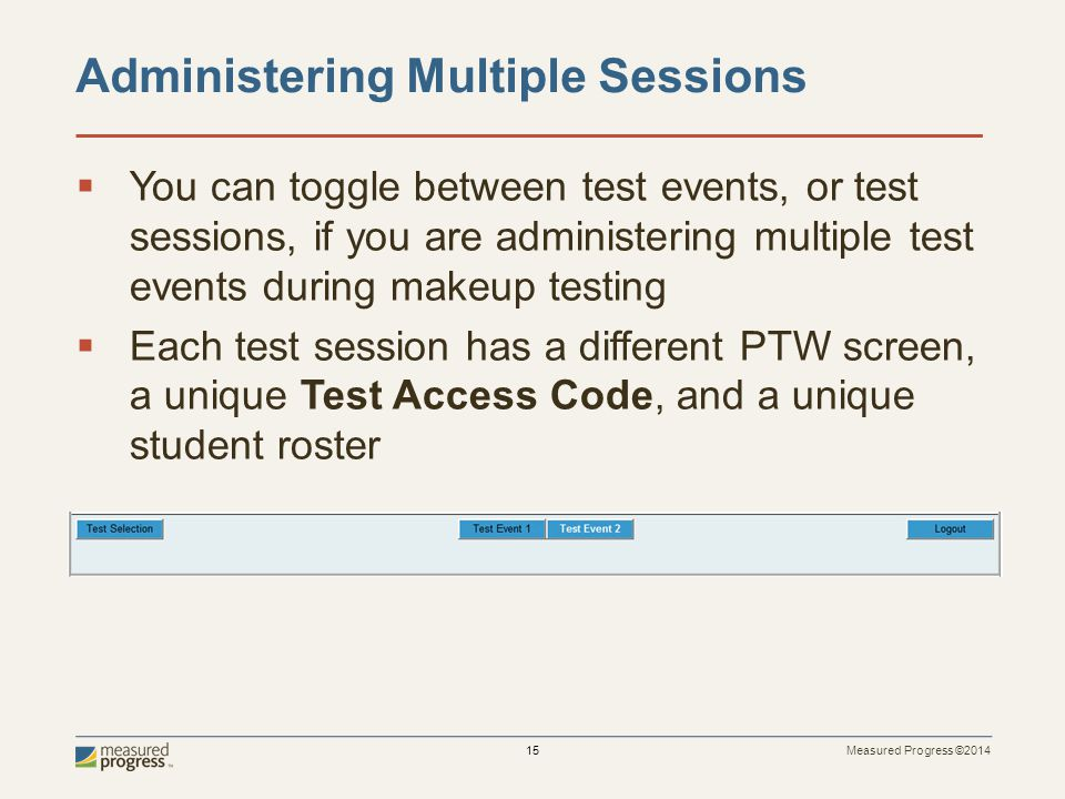 Administering Multiple Sessions