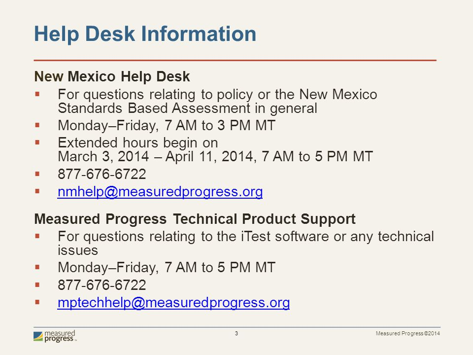 Help Desk Information New Mexico Help Desk