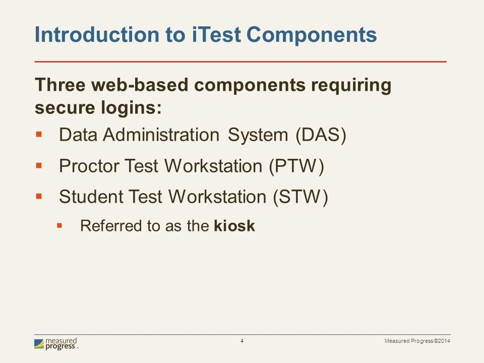 Introduction to iTest Components