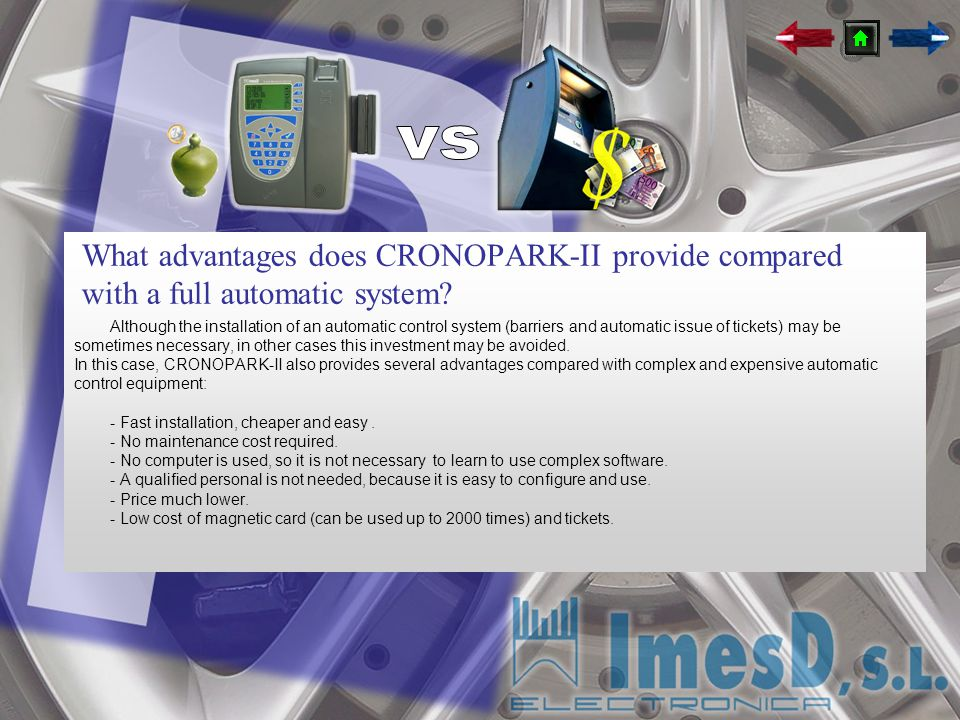 vs What advantages does CRONOPARK-II provide compared with a full automatic system