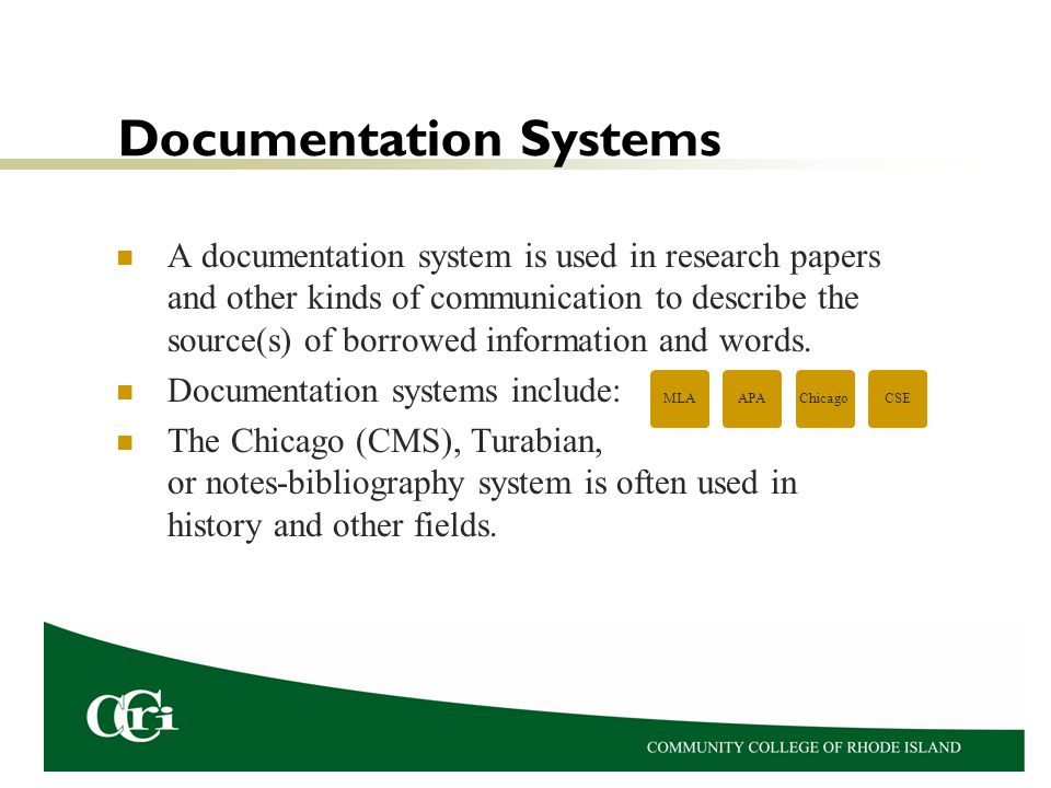 Documentation Systems
