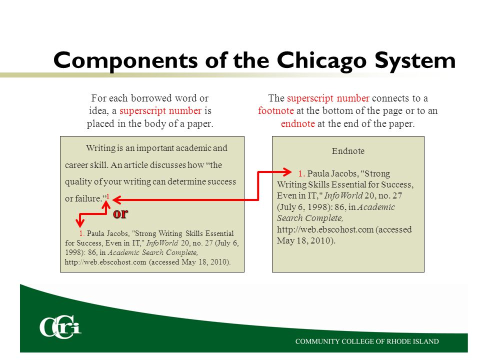 Components of the Chicago System