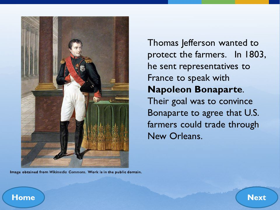 Thomas Jefferson wanted to protect the farmers