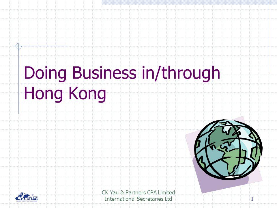 Doing Business in/through Hong Kong
