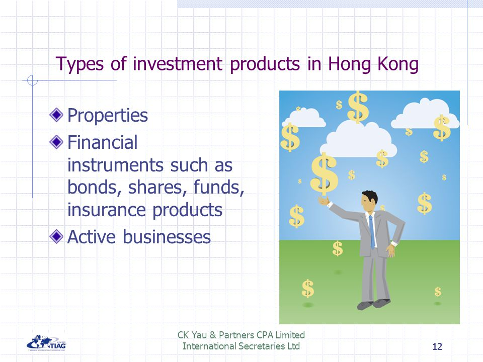 Types of investment products in Hong Kong