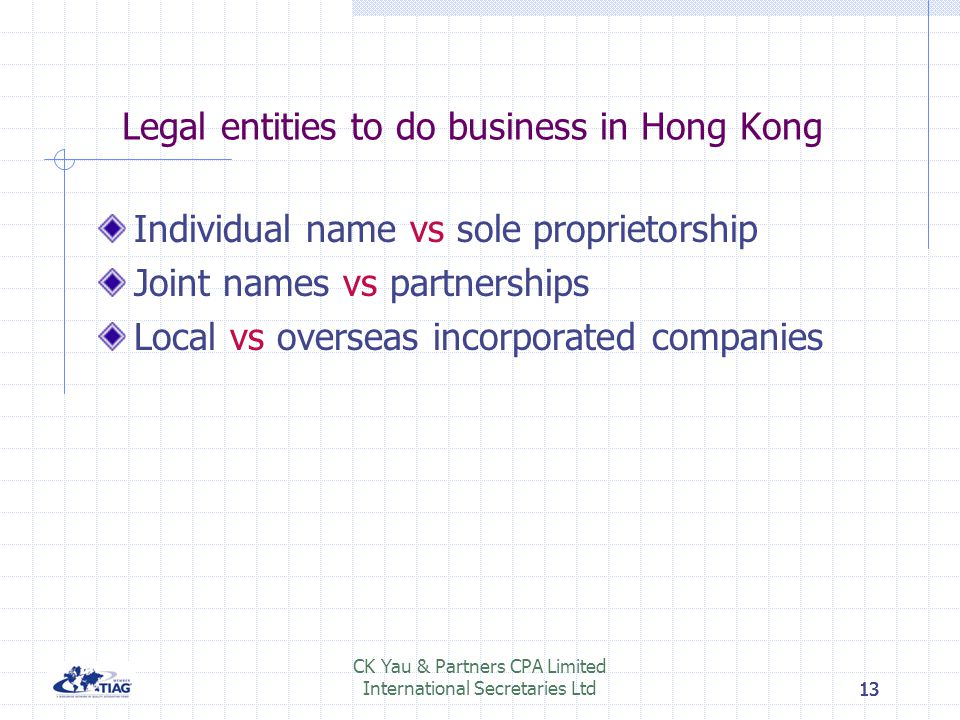Legal entities to do business in Hong Kong