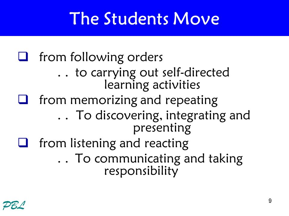 The Students Move from following orders