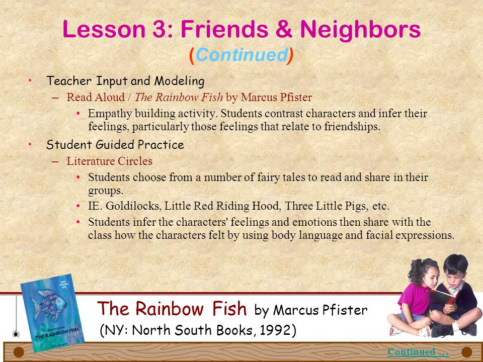 Lesson 3: Friends & Neighbors (Continued)