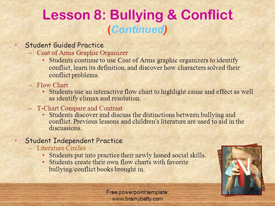 Lesson 8: Bullying & Conflict (Continued)