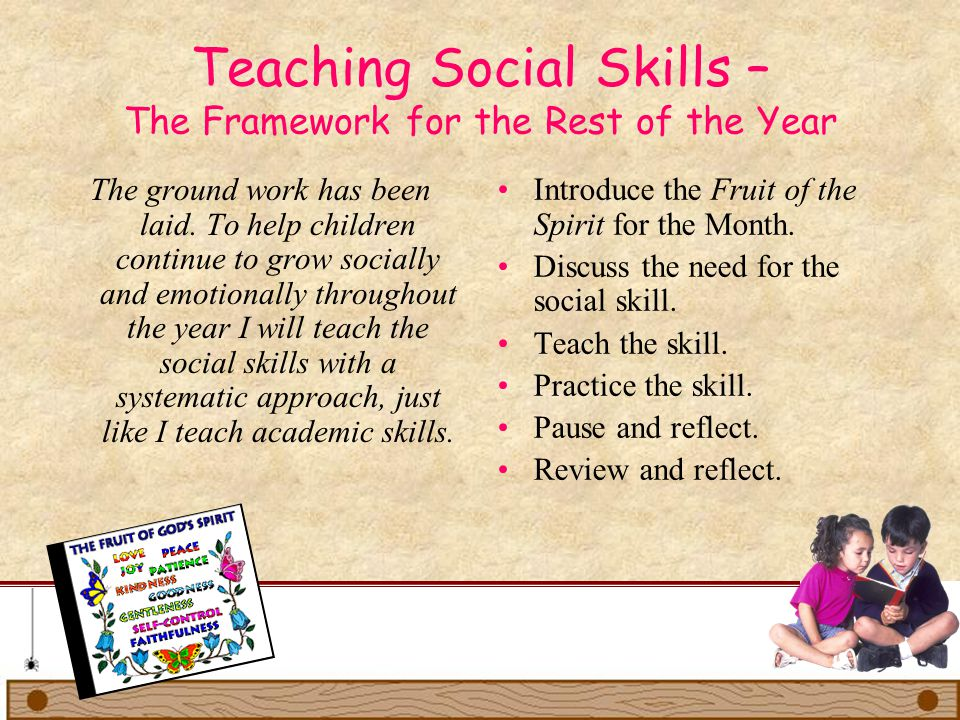Teaching Social Skills – The Framework for the Rest of the Year