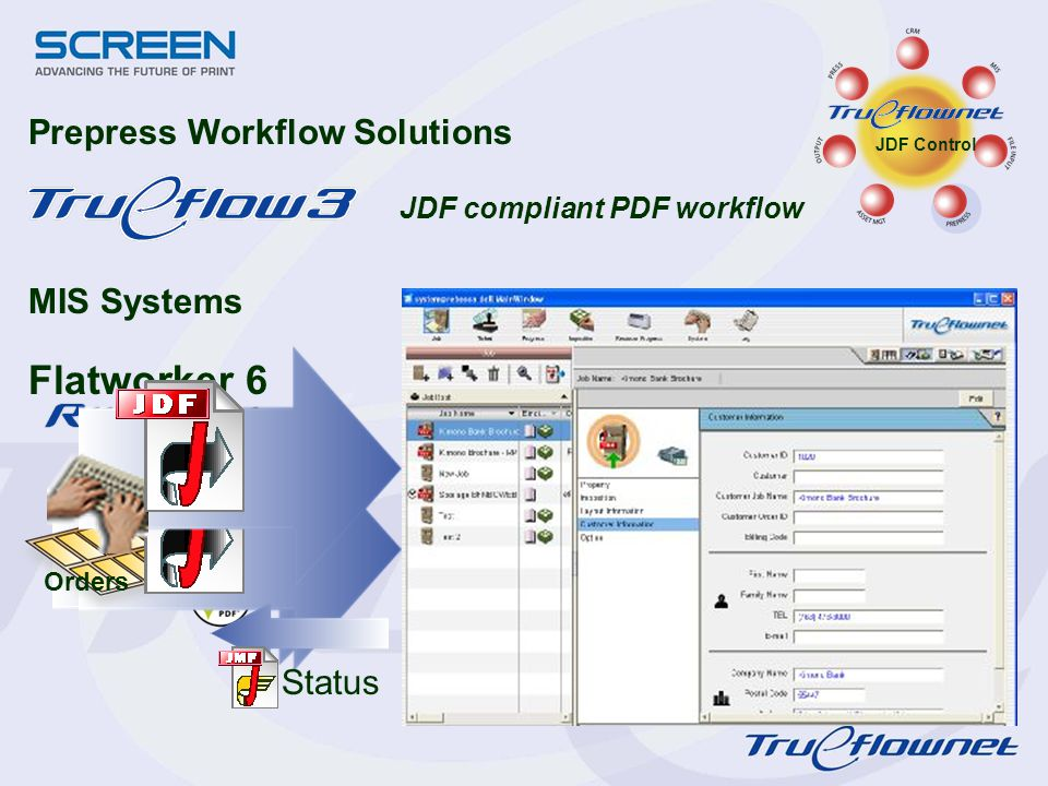 Flatworker 6 Prepress Workflow Solutions MIS Systems Status