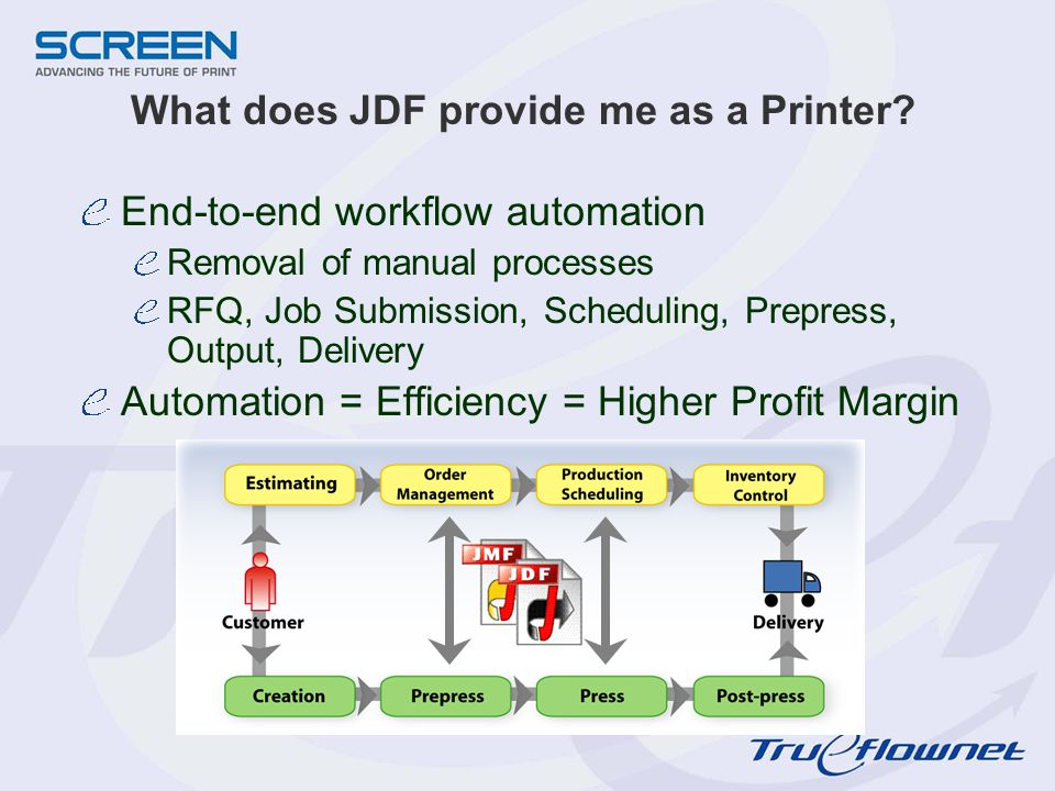 What does JDF provide me as a Printer