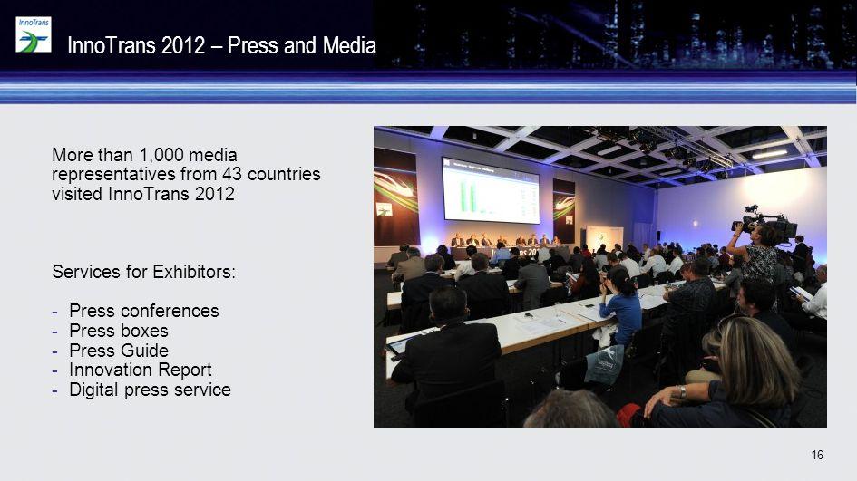 InnoTrans 2012 – Press and Media