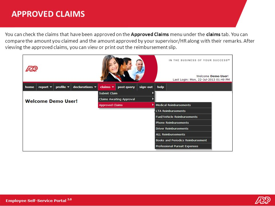 APPROVED CLAIMS
